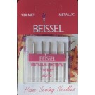 Beissel Sz 80 Metallic Machine Needles, 5 Count