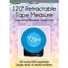 "Sullivan's 120"" Retractable Tape Measure, Blue"