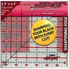 "Sullivans Cutting Edge FROSTED Rulers, Non-Skid & Sharpens Your Blade, 6.5"" x 6.5"""