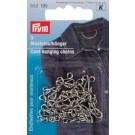 Coat Hanging Chains, Silver, 3 counts
