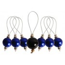 Knitter's Pride ZOONI Stitch Markers With Coloured Beads (Set Of 7 Including 1 Marker) - Bluebell