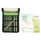 Knitter's Pride Bamboo Crochet Hook Set - Single Ended (In Green Fabric Case)