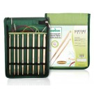Knitter's Pride Afghan/Tunisian Bamboo Crochet Hook Set (In Green Fabric Case)