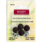"Bohin Bachelor Buttons 14mm (9/16""), Bronze, 4pc"