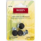 "Bohin Bachelor Buttons 19mm (3/4""), Black, 4pc"