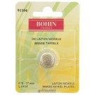 Bohin Round Top Thimble, Nickel Plated Brass, No. 0 (Large), 17mm