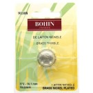 Bohin Round Top Thimble, Nickel Plated Brass, No. 2 (Medium), 16.1mm