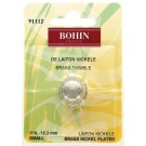 Bohin Round Top Thimble, Nickel Plated Brass, No. 4 (Small), 15.3mm