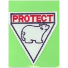 Protect Bear Iron-on-Embroidered Patches