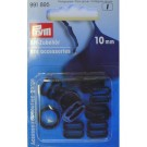 Bra Rings/Sliders - Black -10mm - 10 count