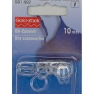 Bra Rings/Sliders - Transparent - 10mm - 10 count