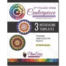 "PlumEasy Patterns 17"" Folded Star Centerpiece (Kaleidoscope Centerpiece ) Interfacing Template, 3-Pack - 50% OFF!"