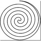 "Hancy Creations Spiral Circle Stencil, 7.5"" x 7.5"""