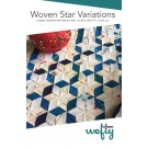 Wefty Woven Star Variations, 16 x 18""