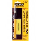 OLFA Precision Art Knife Set: Two Precision Blades, One Chisel Blade & One Curved Carving Blade