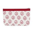 Knitter's Pride Fabric and Vinyl Zipper Pouch (Large) - Amber Hand Block Printed Fabric