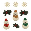 "Tis The Season Buttons, 0.5"" - 1.25"", 9 count"