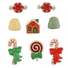 "Holiday Sweets Buttons, 0.5"" - 1.25"", 8 count"