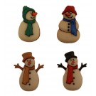 "Old Fashioned Snowmen Buttons, 1"" -1.25"", 4 count"