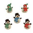 "Jolly Snowmen Buttons, 0.75"" -1"", 5 count"