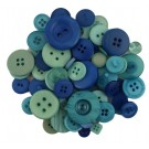 Button Bonanza Ocean Blue