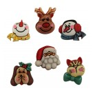 Santa & Friends-3D Buttons