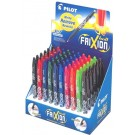 "Frixion Erasable Gel Pens Display.  Includes 60 Frixion ""Ballpoint""  Pens (0.7MM) in the countertop display, 10 Colours, 6 each colour"