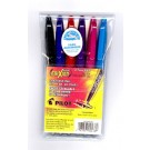 Pilot Frixion Ballpoint Erasable Gel Pens, 0.7mm, 6 Piece Primary Set