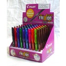"Frixion Erasable Gel Pens Display.  Includes 60 Frixion ""Fine Point""  Pens (0.5MM) in the countertop display, 10 Colours, 6 each colour"