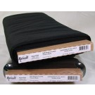 "Bosal Weft Insertion, Fusible, 58.42cm (23"") x 22.86m (25 Yards), 60% Polyester 40% Rayon, Black (Per Metre)"