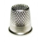 Bohin Brass/Nickel Round Top Thimble (Large), 18.2mm, Unpackaged