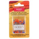 Bohin Ultra Fine Glass Head Pins, Blue/Orange, 0.40mm x 100pc.