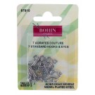 Bohin Hooks & Eyes, Silver, No.3, 7pc.