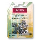Bohin Sew-On Fasteners, Nickel Plated Brass, 11.5mm (Size 3) x 6pc.