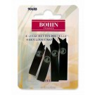 Bohin Shoulder Strap Retainer, Black, 4pc