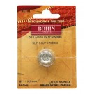 Bohin Thimble Quilters Nickel Plated Brass No. 1 Large