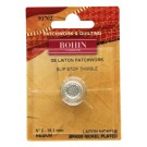 Bohin Thimble Quilters Nickel Plated Brass No. 2 Medium