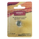Bohin Thimble Quilters Nickel Plated Brass Sm No. 7