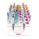 "Bohin Scissors ""Cats"" Embroidery Scissors 12 Piece Display, Assorted Colours, 90mm (3.5"")"