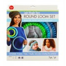 "Light Weight Yarn Round Loom Set: Includes 3 Looms (5.5"", 7.5"" & 9.5""), 1 Hook, 1 Needle & a FREE Pattern"