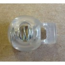 Cord Locks-Ball Style, Clear Plastic, Bulk