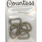 "D-Rings, 13mm, 1/2"",  Antique Gold, 6 Count"