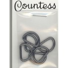 "D-Rings,13mm, 1/2"",  Antique Silver, 6 Count"