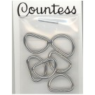 "D-Rings, 13mm, .1/2"",  Silver, 6 Count"