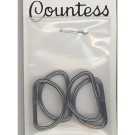 "D-Rings, 19mm (3/4"") Antique Silver, 4 Count"