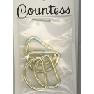 "D-Rings, 19mm (3/4"") Gold, 4 Count"