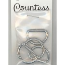 "D-Rings, 19mm (3/4"") Silver, 4 Count"