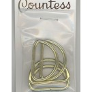 "D-Rings, 25mm, 1"" Gold, 4 Count"