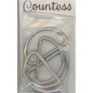"D-Rings, 32mm, 1.25"" Silver, 4 Count"