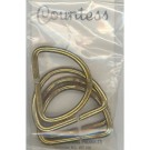 "D-Rings, 32mm, 1.25"" Antique Gold, Heavy Duty, 4 Count"